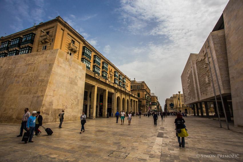 Glavni trg/ulica v Valletti