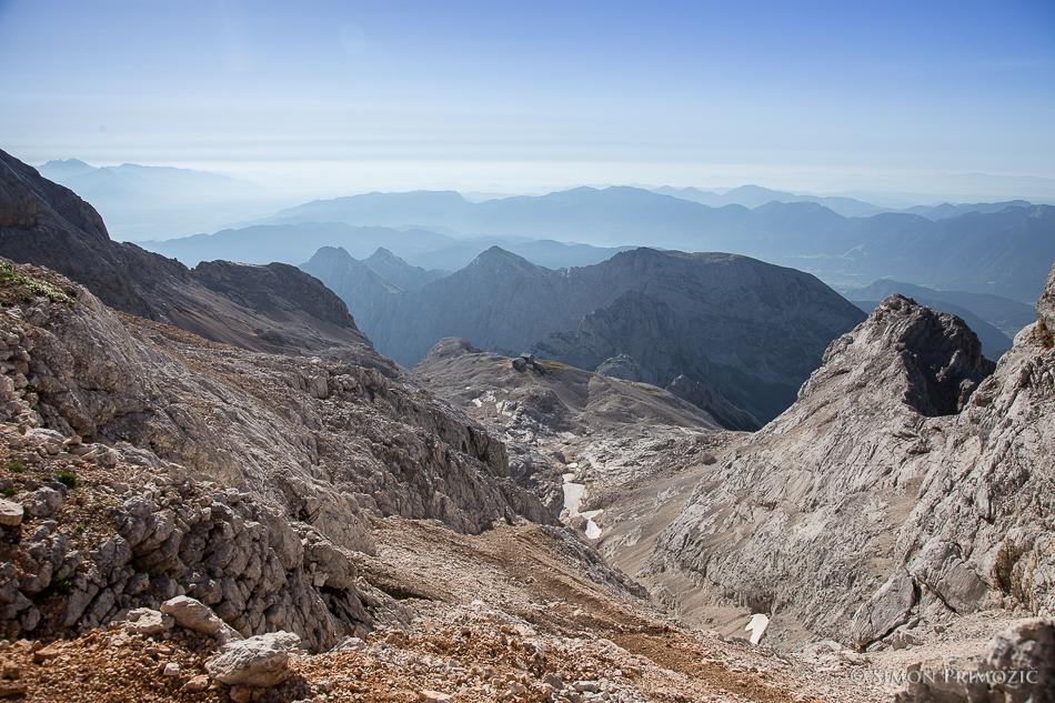 Pogled na Planiko iz Triglavske škrbine