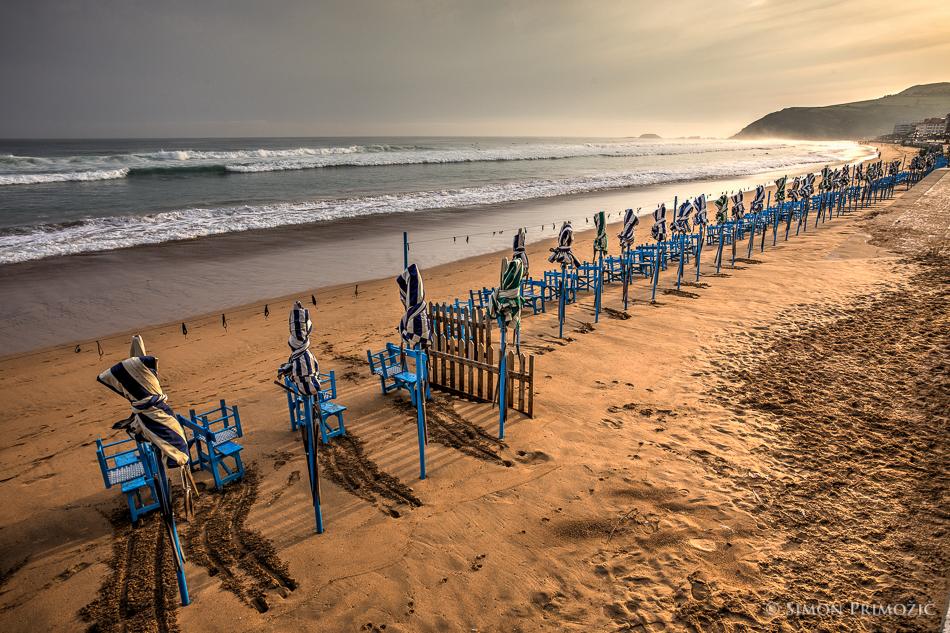 Plaža zjutraj - prazno