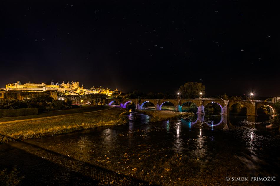 Carcassonne ponoči